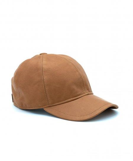 Honigfarbe Unisex Ledercap Kappe Verstellbarer Klettverschluss